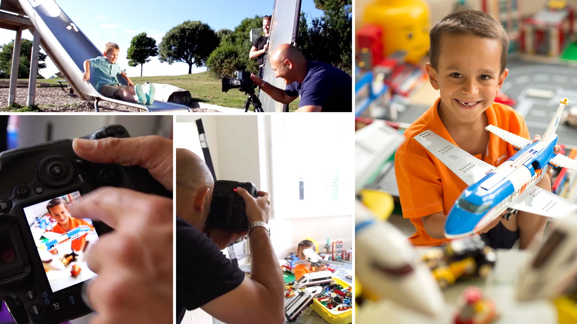 Photographing kids using natural light