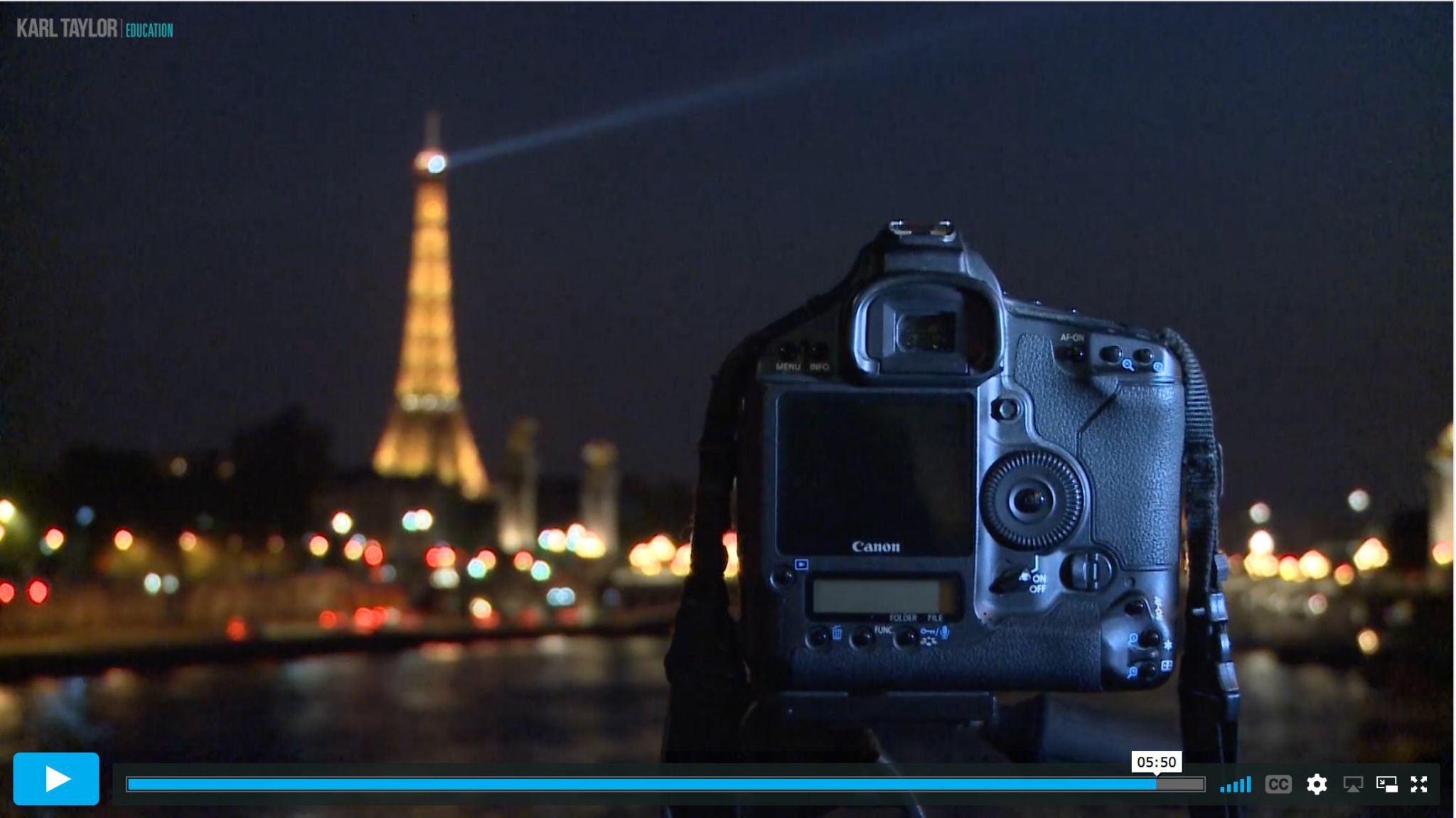 Photographing motion in a cityscape at night