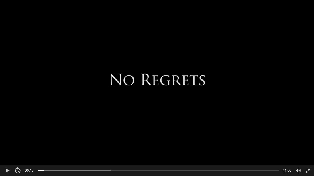 """The final film we made in this course – """"No Regrets"""""""