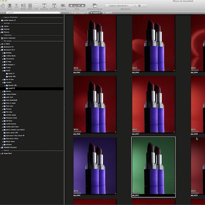 Retouching for high-end cosmetic product photography