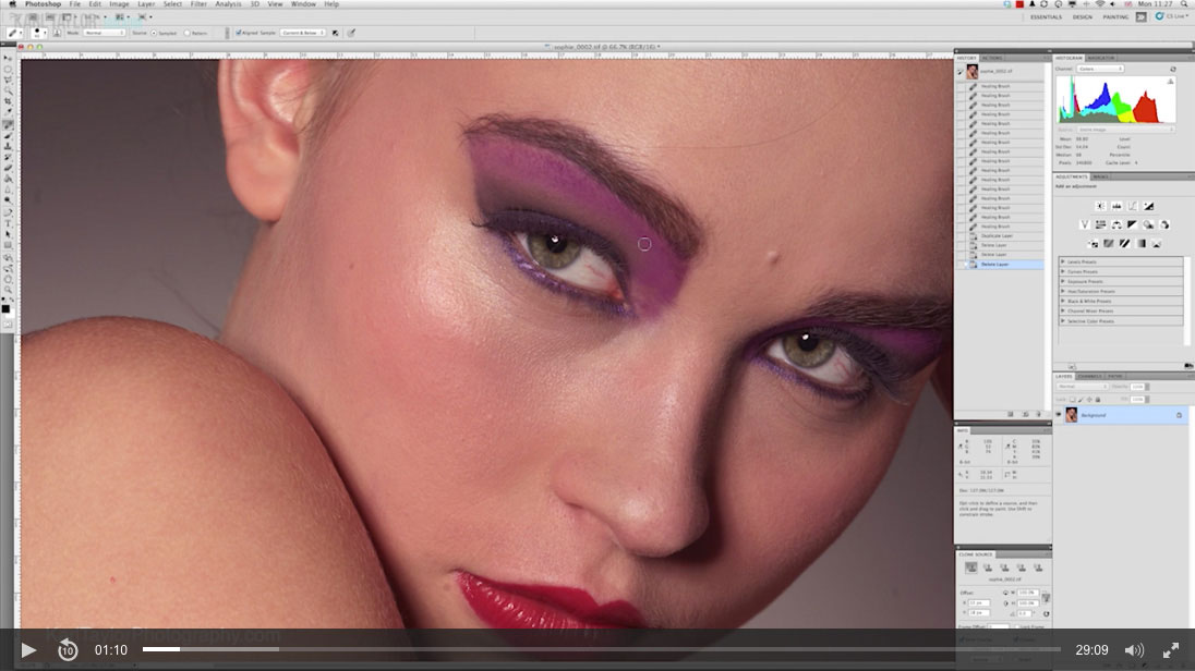 Beauty retouch 2: Initial clean up