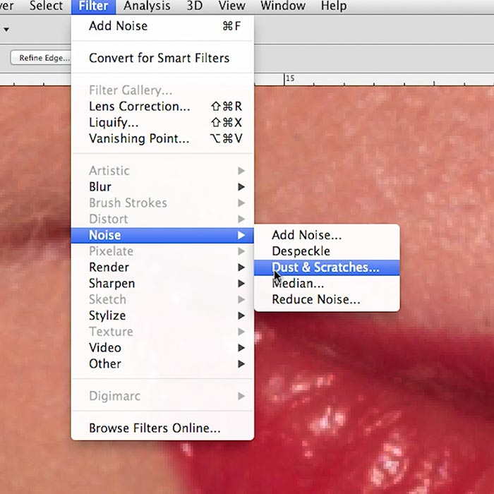 Beauty Retouch 2: Shine removal and lip definition