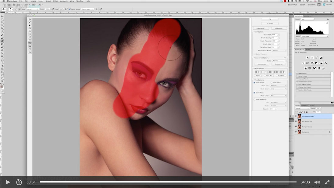 Beauty Retouch 2: Remove fine hairs, blemishes & liquify