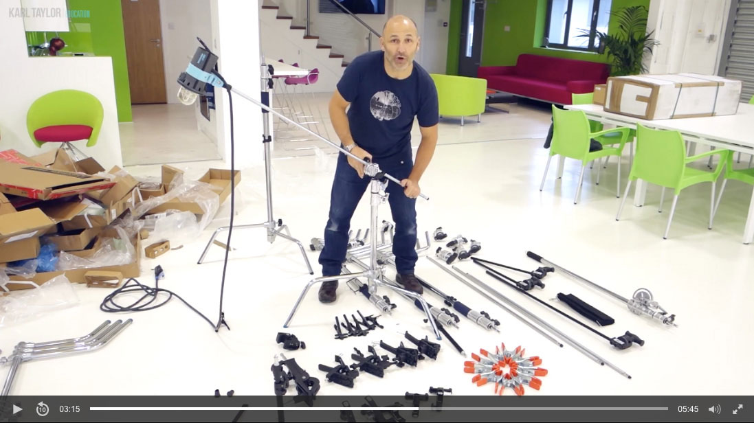 Essential studio photography equipment: C-stands, grips & clamps