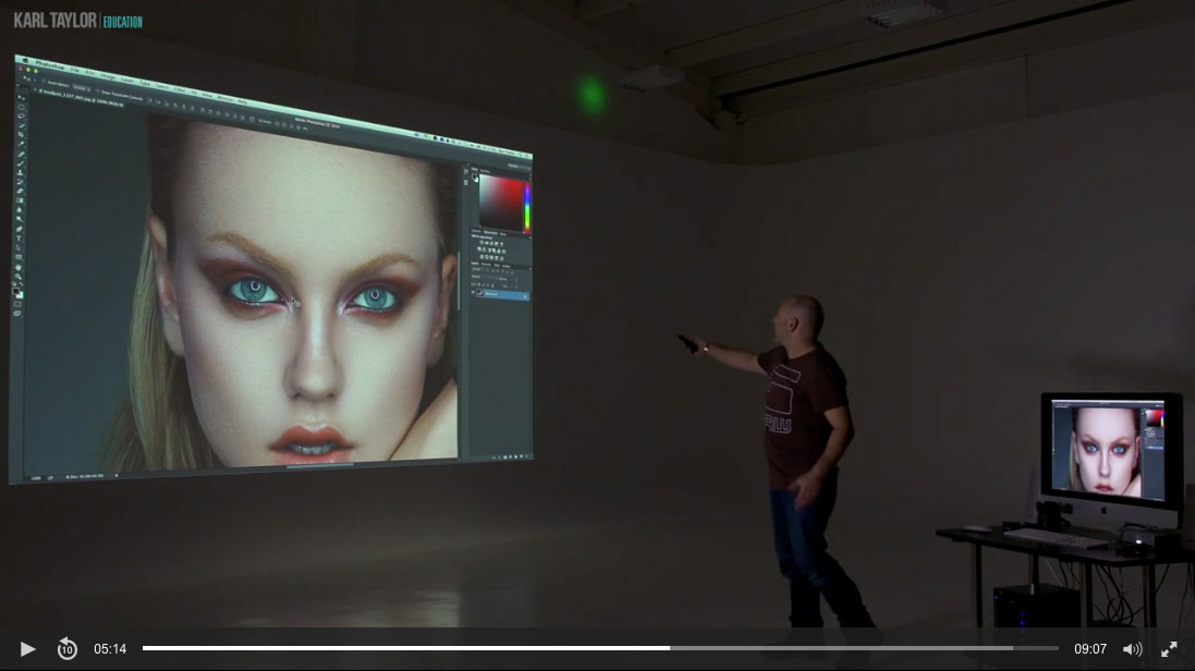 Demonstration of the Canon XEED projector