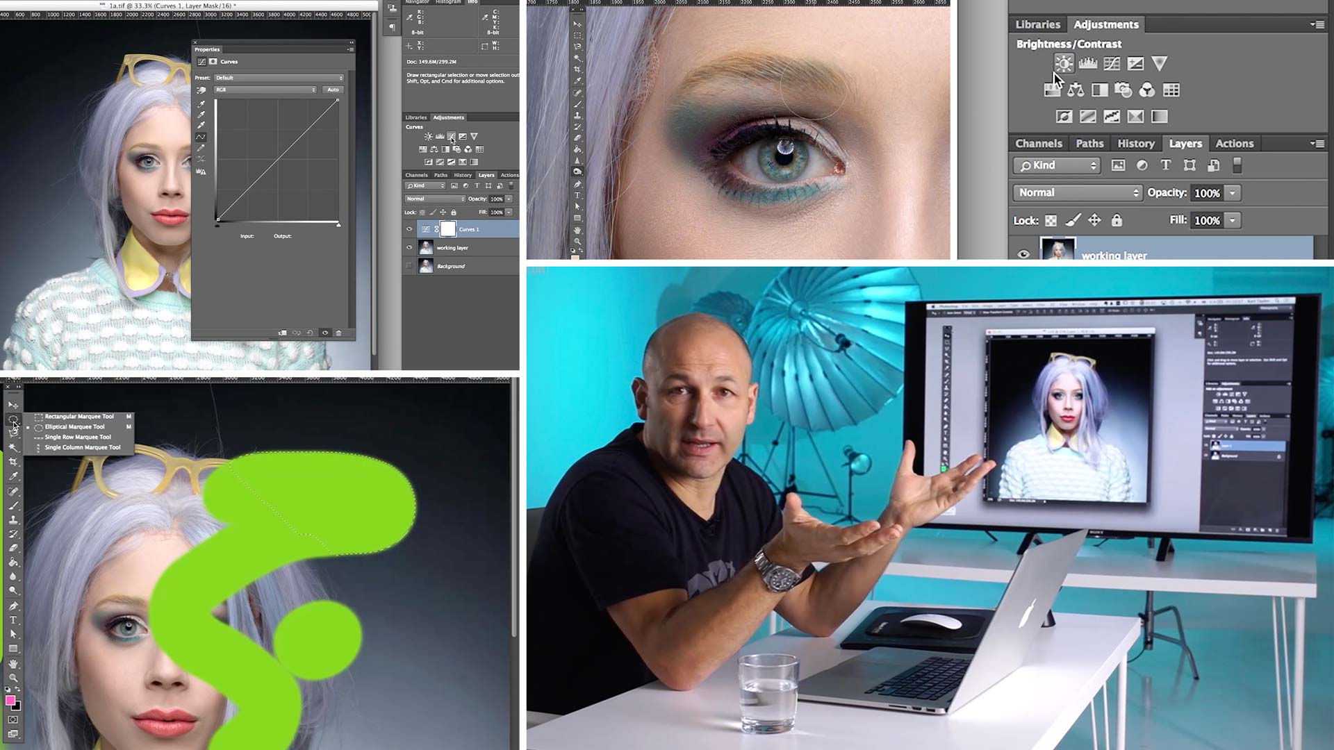 Photoshop interface and tools