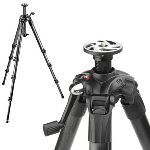 Manfrotto 057 Carbon Fiber 3 Section Geared Tripod