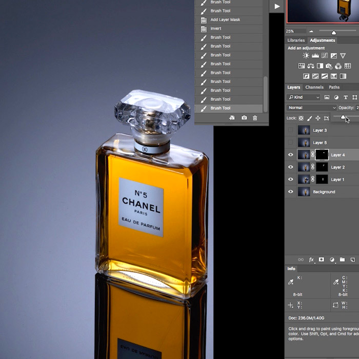 Perfume Product Shoot Post Production