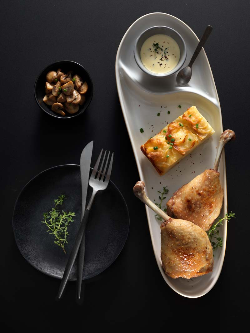 Food Photography and Styling Course includes: Plated Dish of Duck
