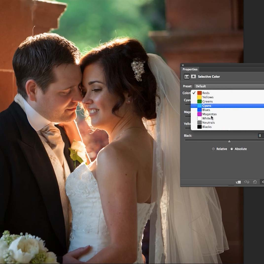 Colour and saturation in photoshop