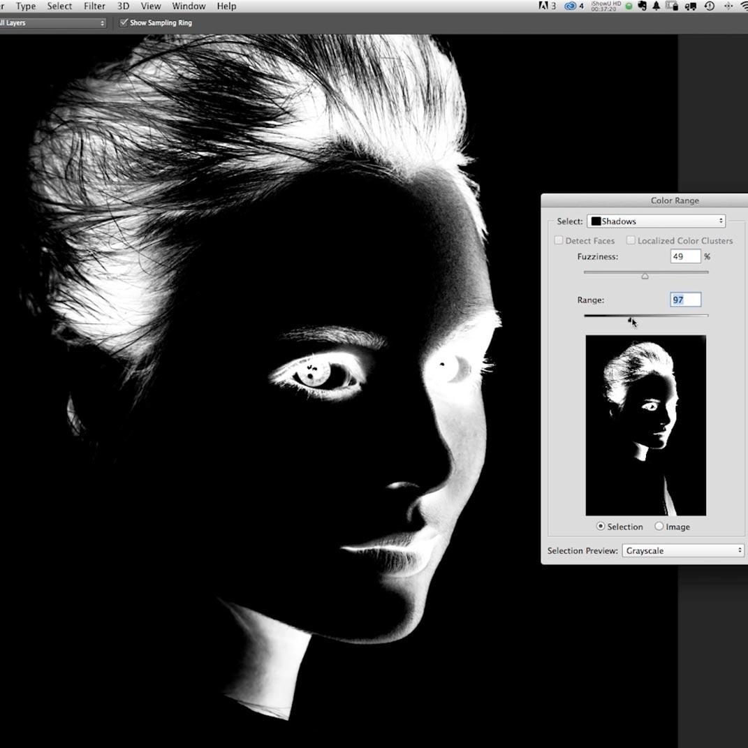 Contrast in photoshop
