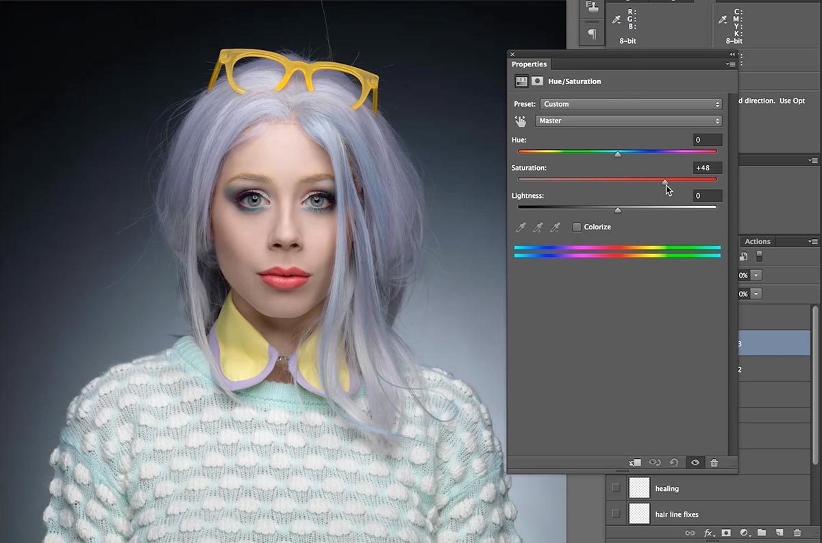 Colour correction in retouch