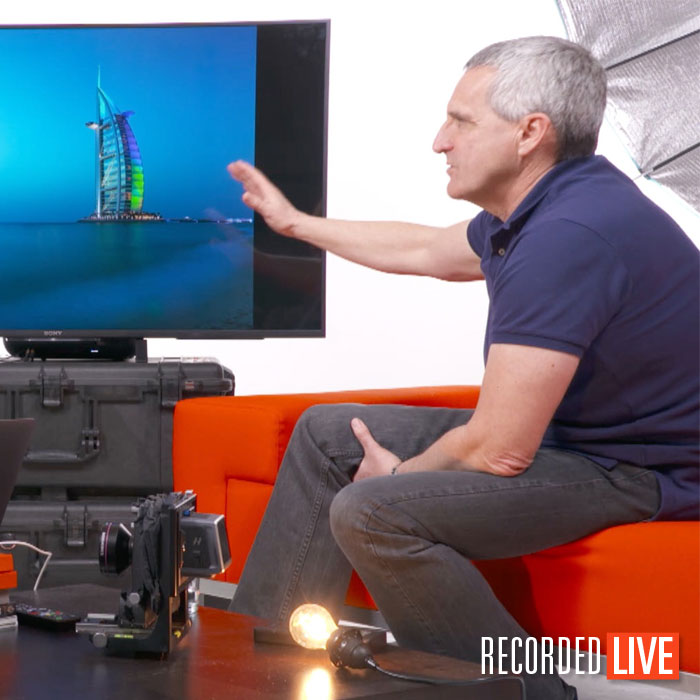 Architectural photographer Sean Conboy during a live interview