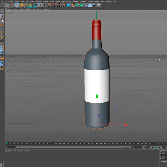 Creating a 3D Model – Wine Bottle