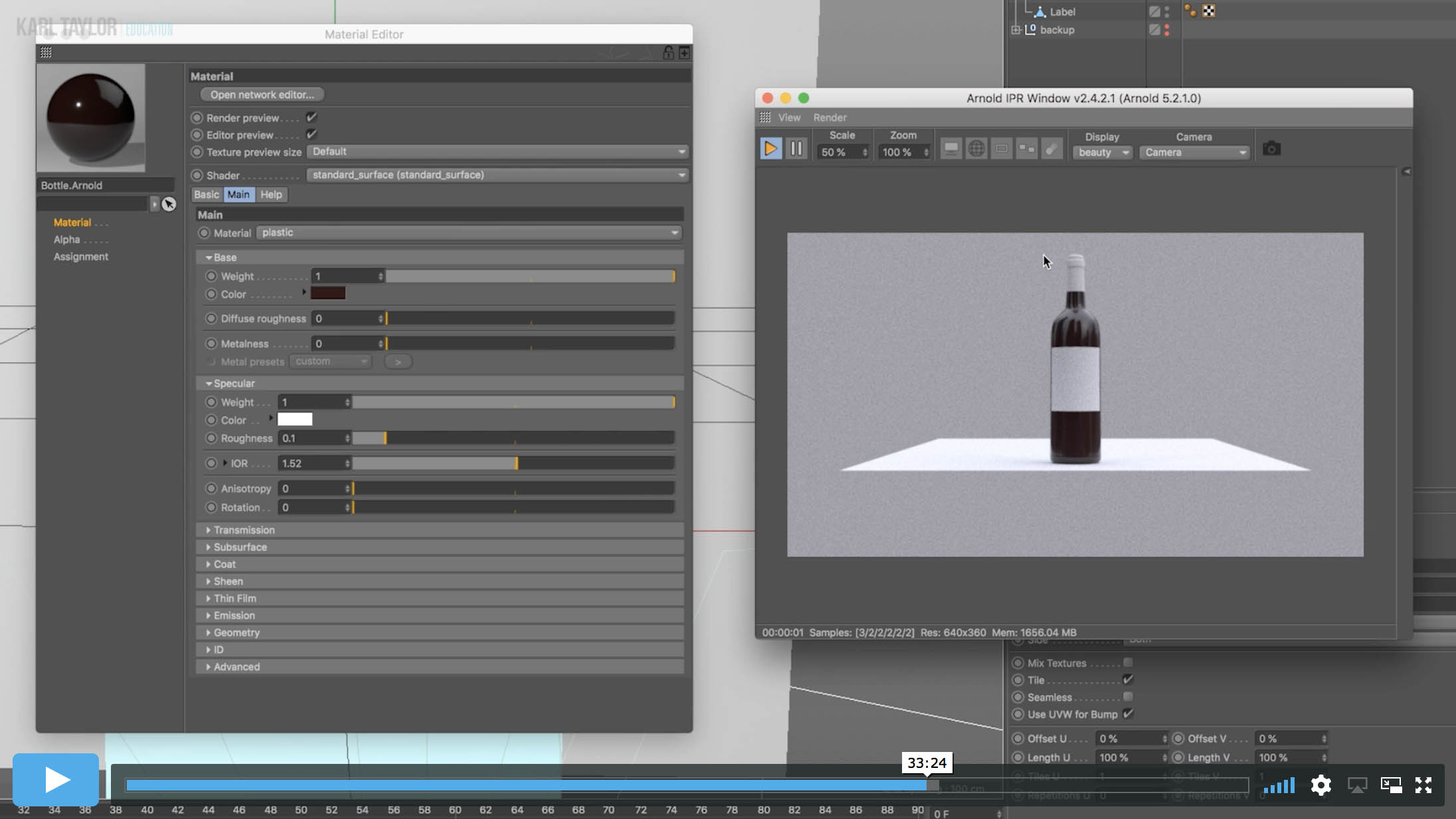 Adding Texture to 3D Models – Wine Bottle