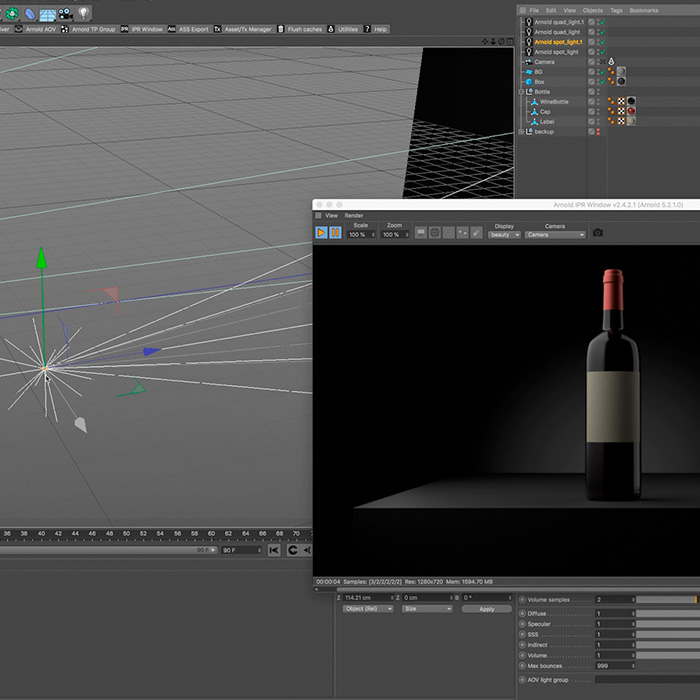 How to light and render a 3d model in cinema 4D