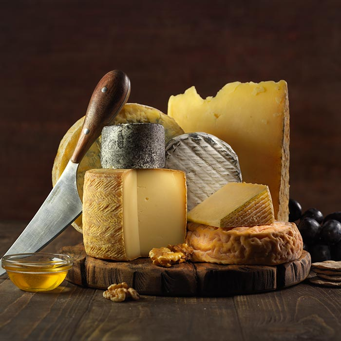 Still life photography: Cheese food shoot