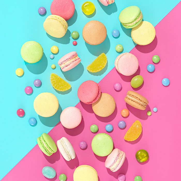 Photographing candy using colour theory