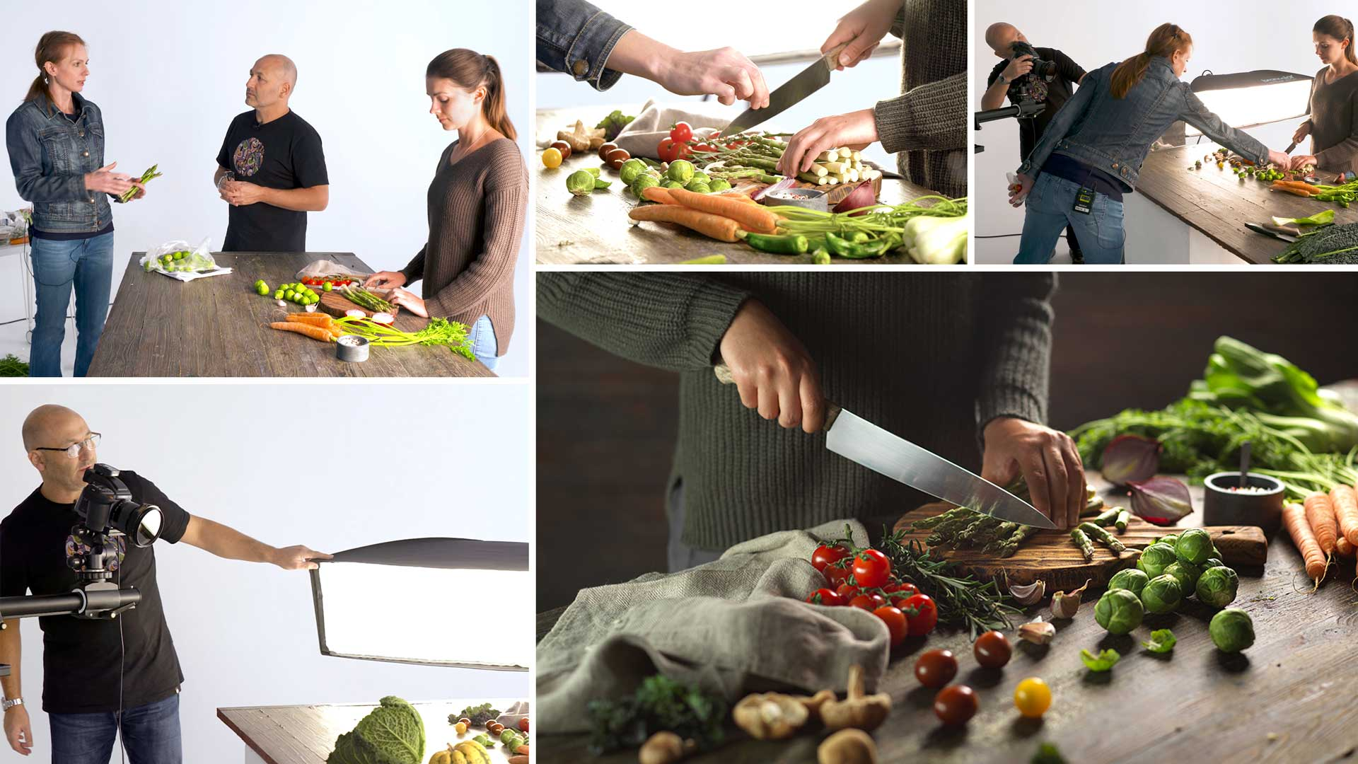 Lifestyle food photography – Chopping vegetables