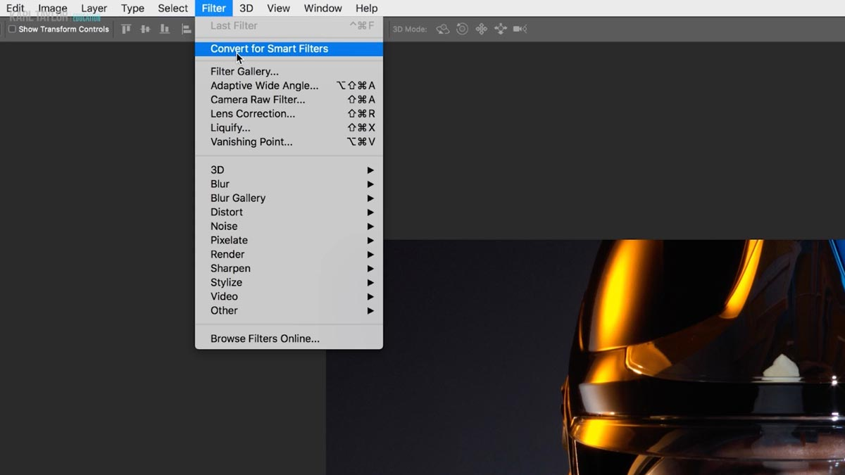 Photoshop smart filters