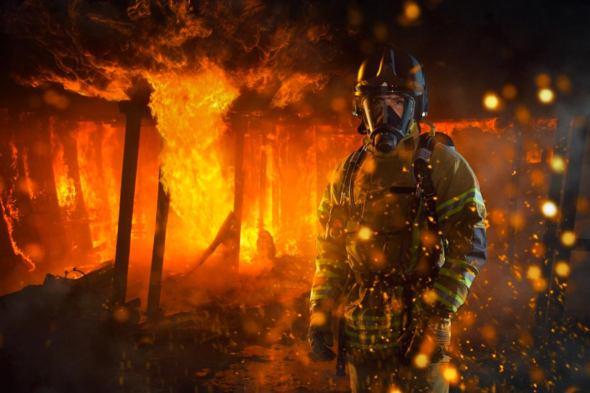 Firefighter composite image