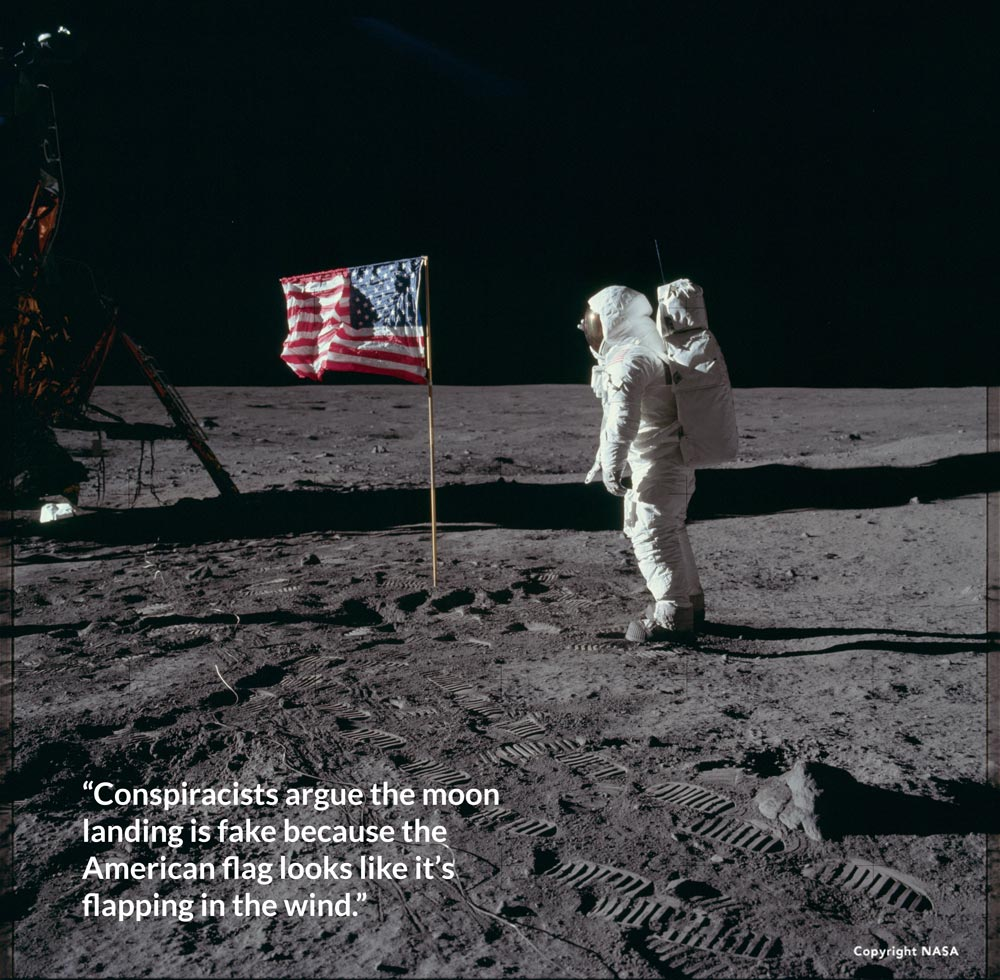 Armstrong's boot print on the moon.