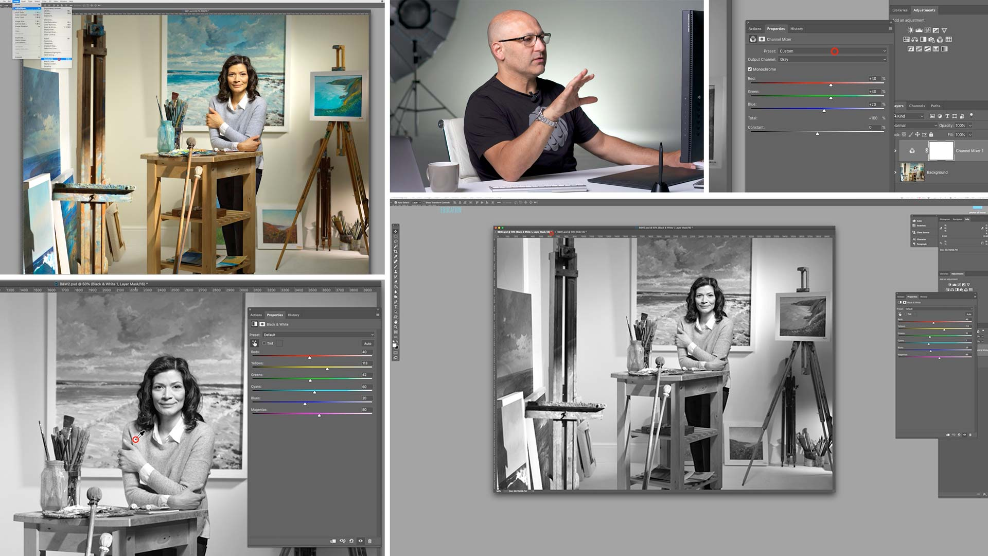 Converting images to black and white