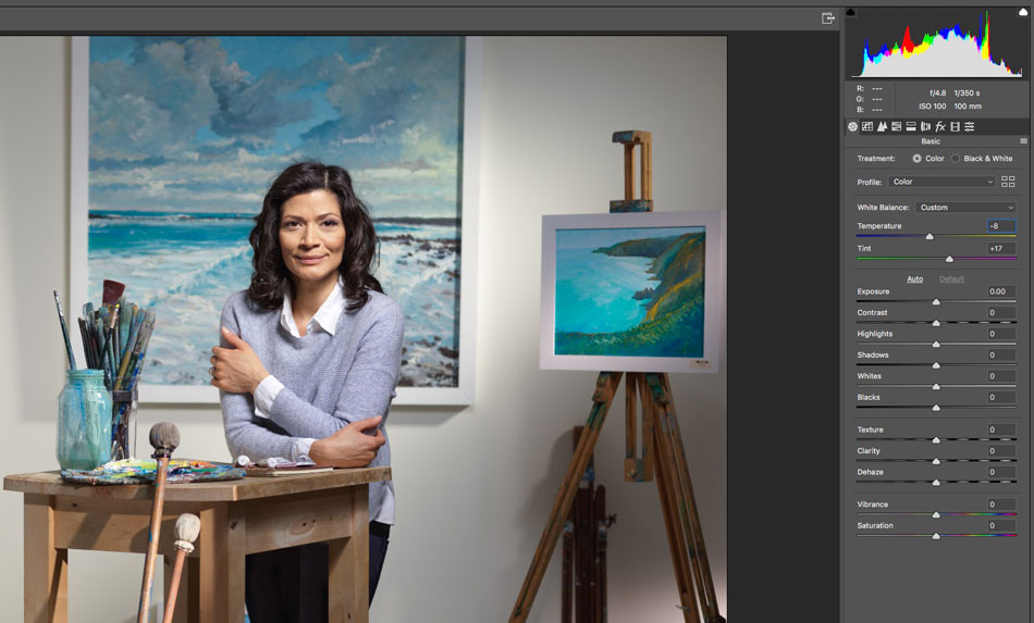 Photoshop Camera RAW filter for colour correction