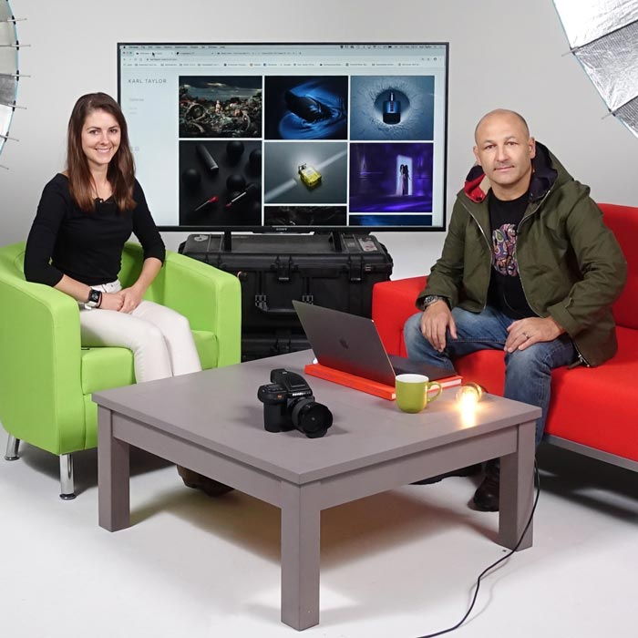 Karl Taylor with Ashleigh on photography chat show