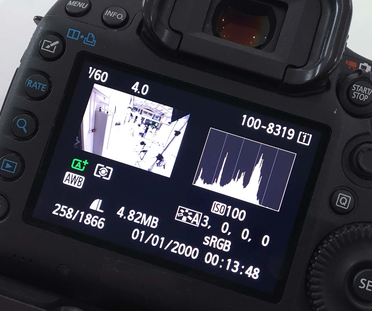 camera histogram view