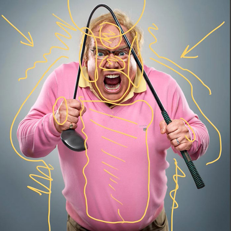 Understand photography lighting - Angry Man