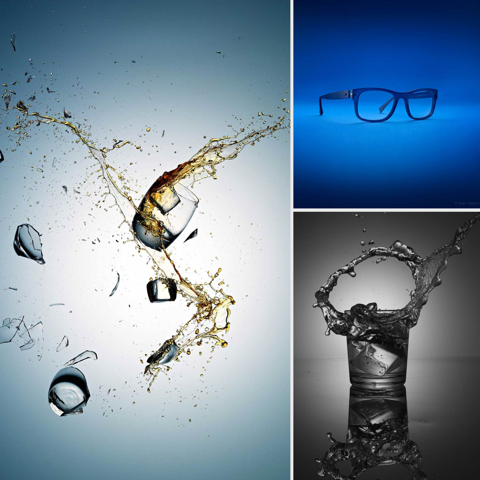 Photographs of glass