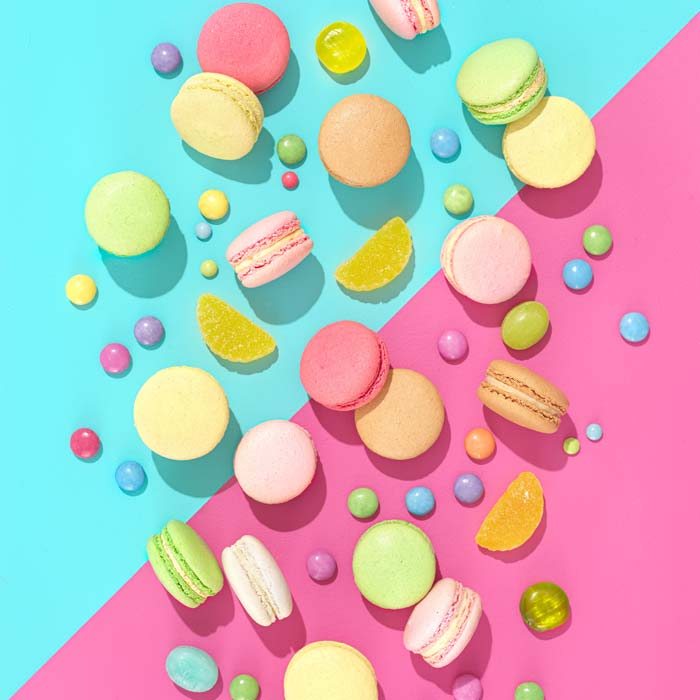 Colourful photo of sweets