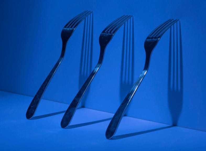 An image of cutlery by Iain Robb