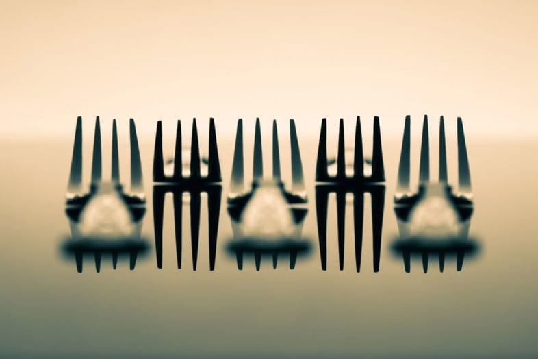 An image of cutlery by Paul Smith