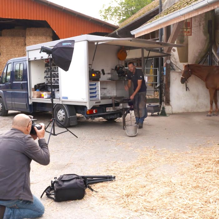 photographing on location