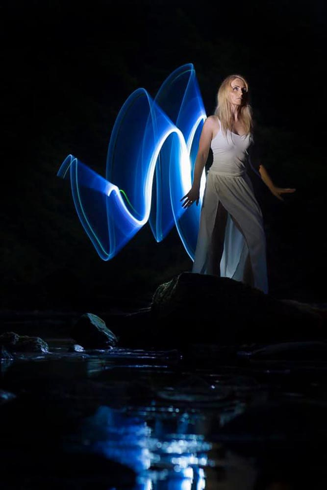A photo of light painting by Natasha Di Pasquale‎