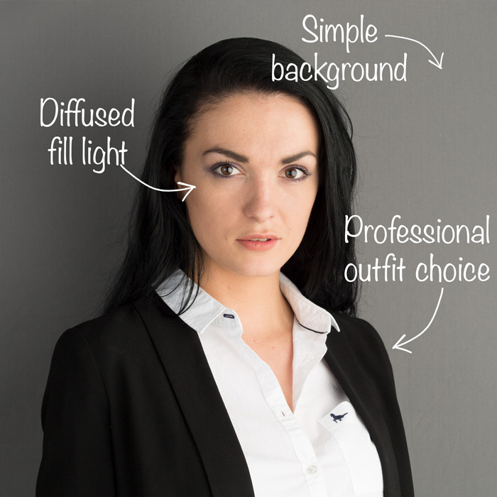 Business portrait lighting