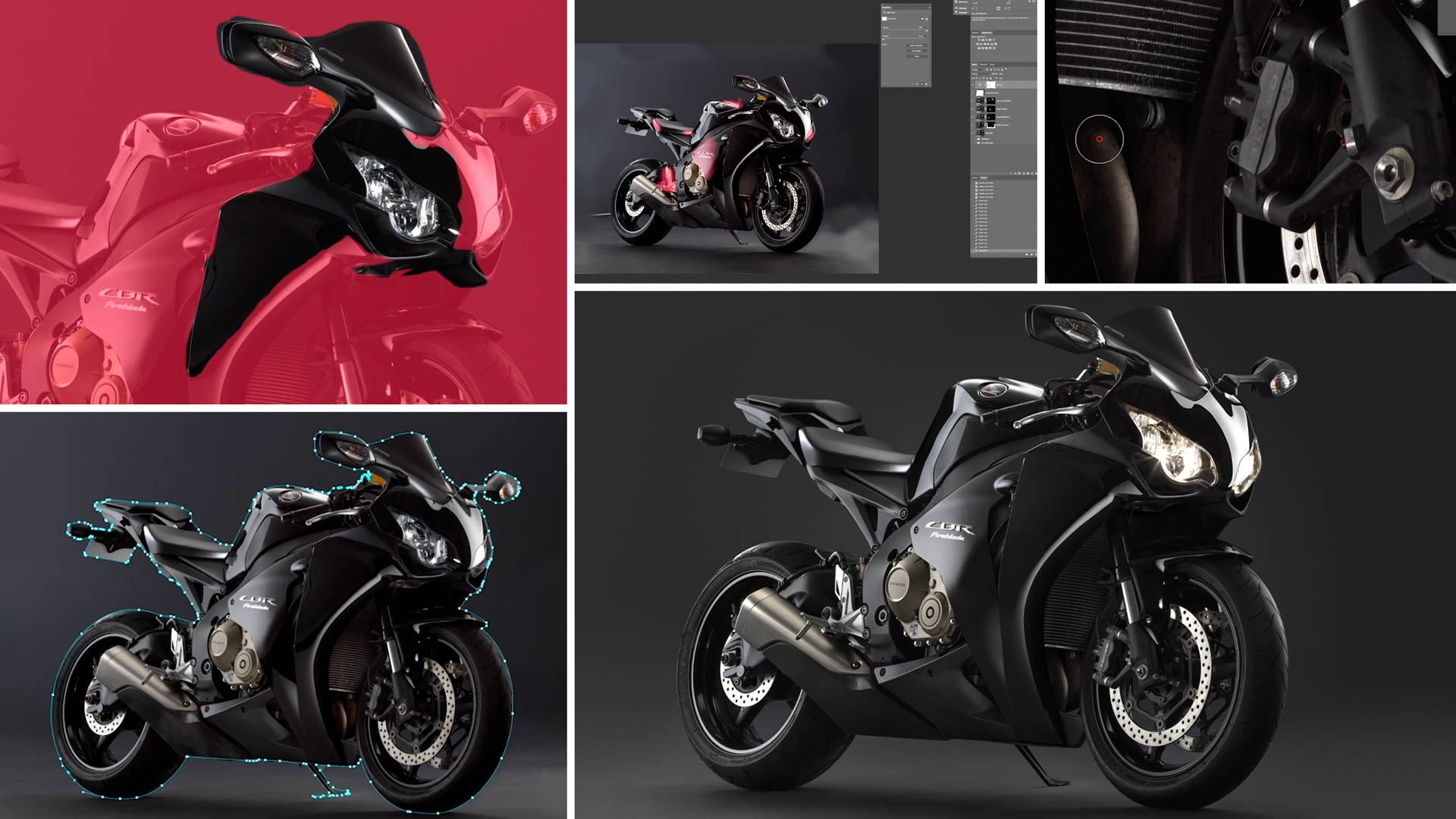 Studio Motorcycle Photography Post-Production