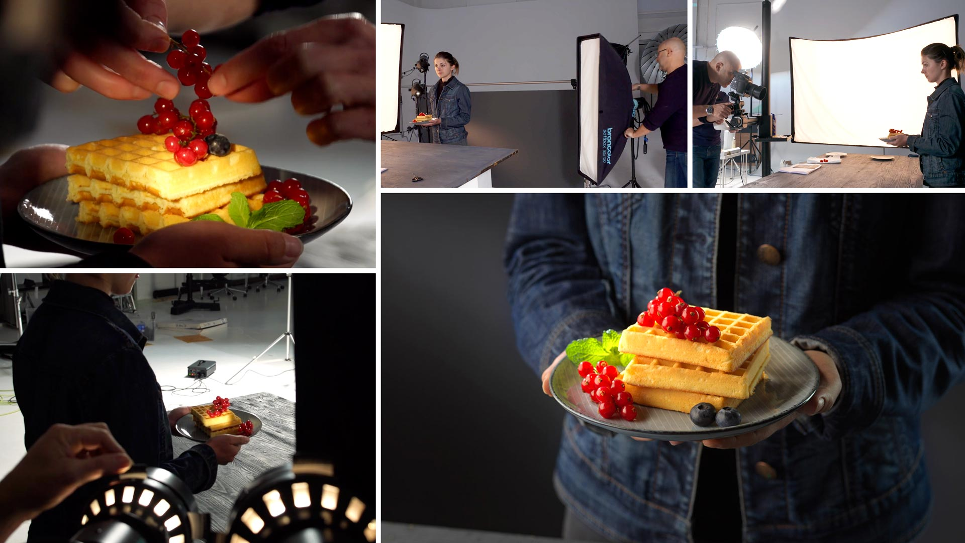 Editorial Food Photography – Waffles