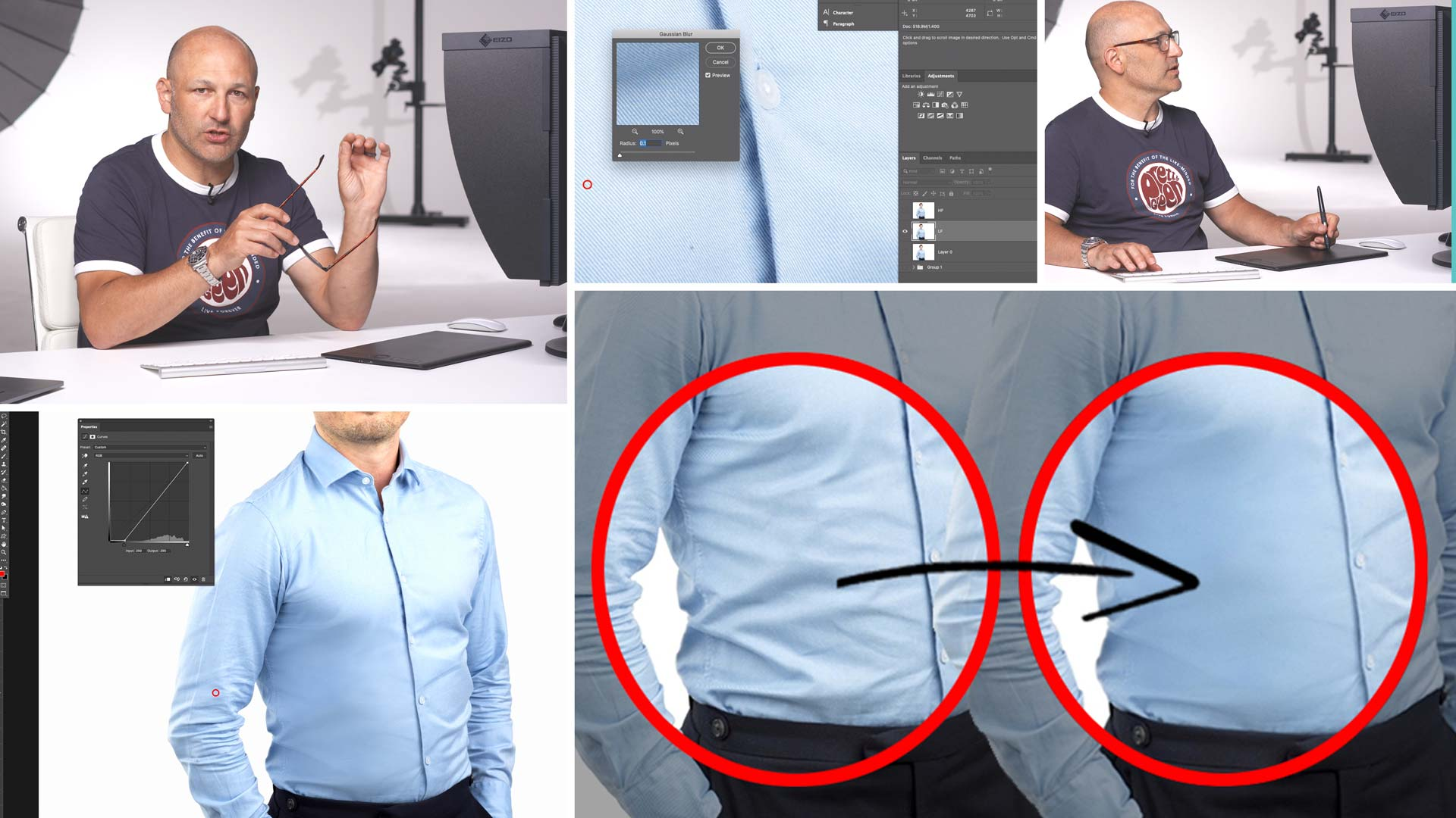 Retouching Clothes & Removing Creases