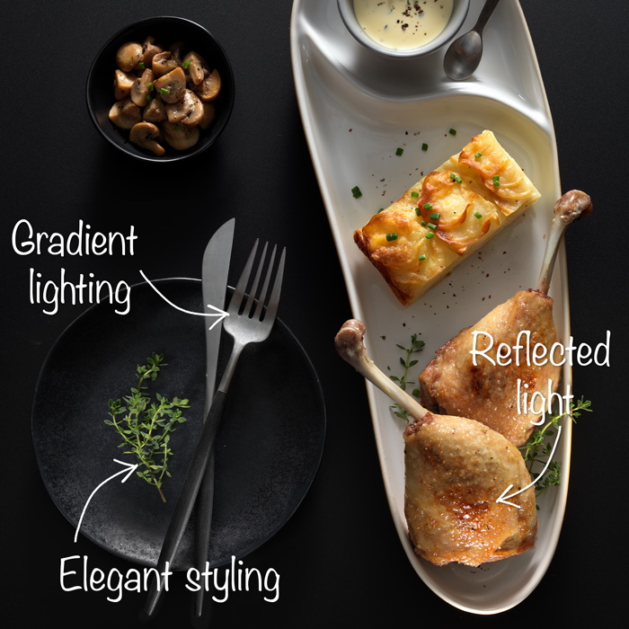 High-end food photography