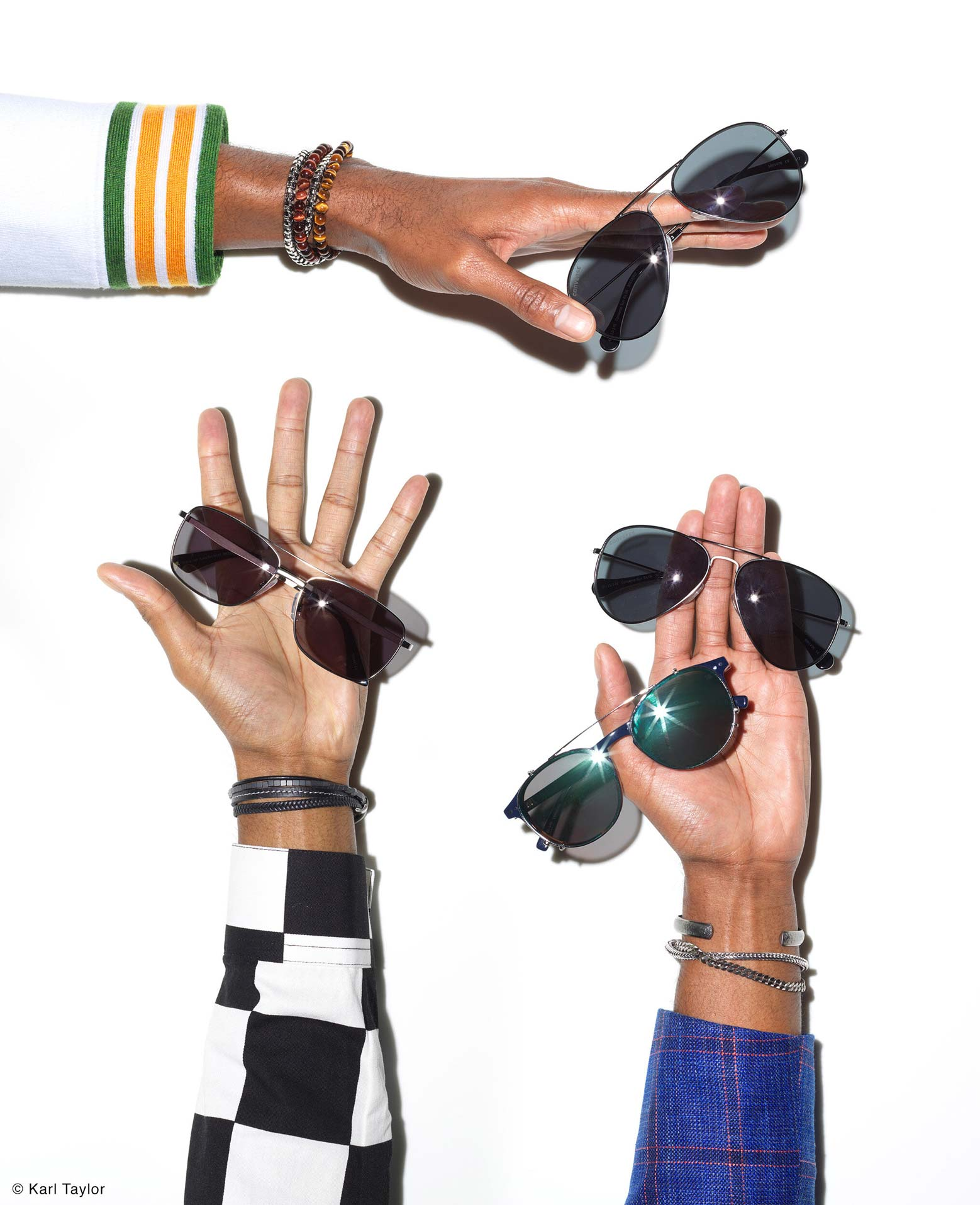Sunglasses hands by Karl Taylor