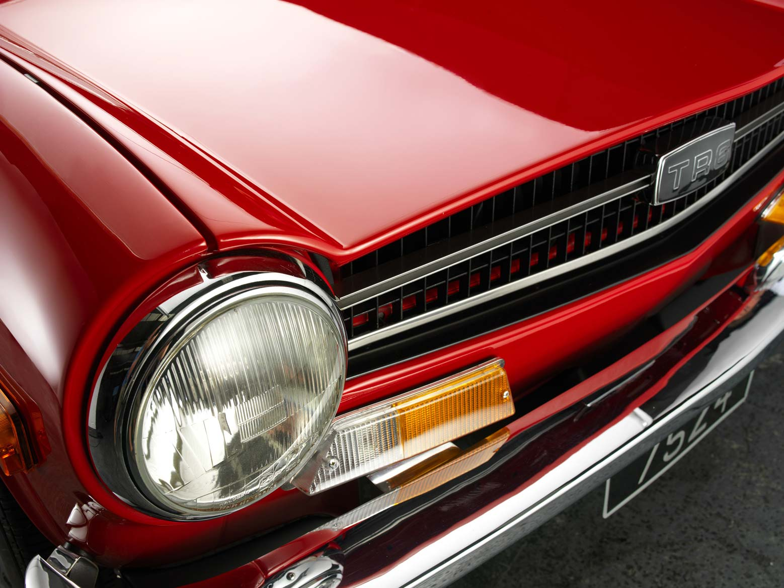 Close up detail of classic car
