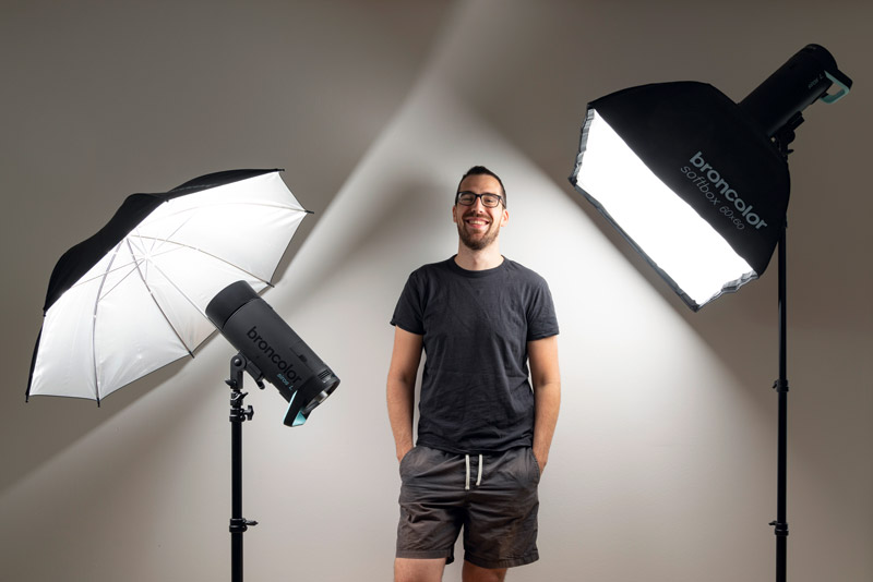 Prize winner Claudio Heller with a broncolor Siros lighting kit
