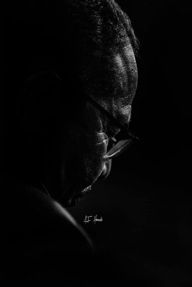 An image of black on black by Aby Hamouda