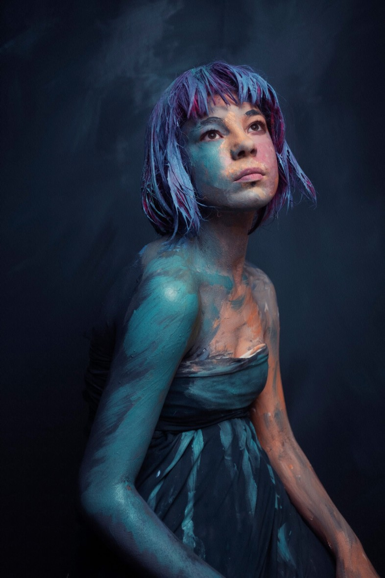 An image of colourful portraiture by Tarryn Goldman