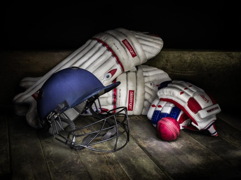 An image of sports equipment by Jules Holbeche Maund
