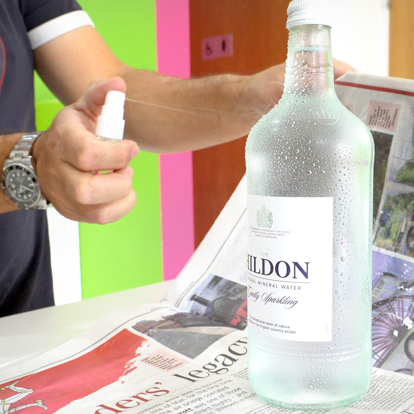 Adding condensation to bottles for photography
