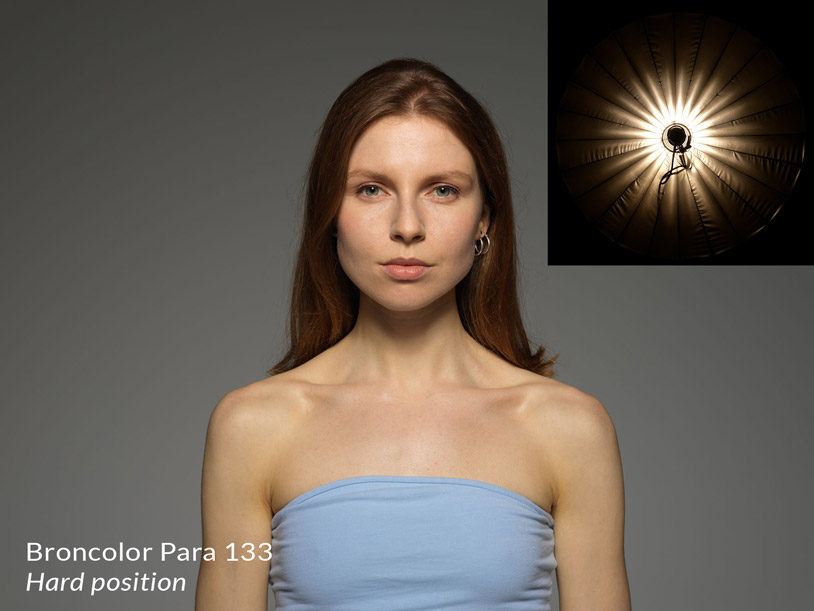 Broncolor para 133 in the hard position + result